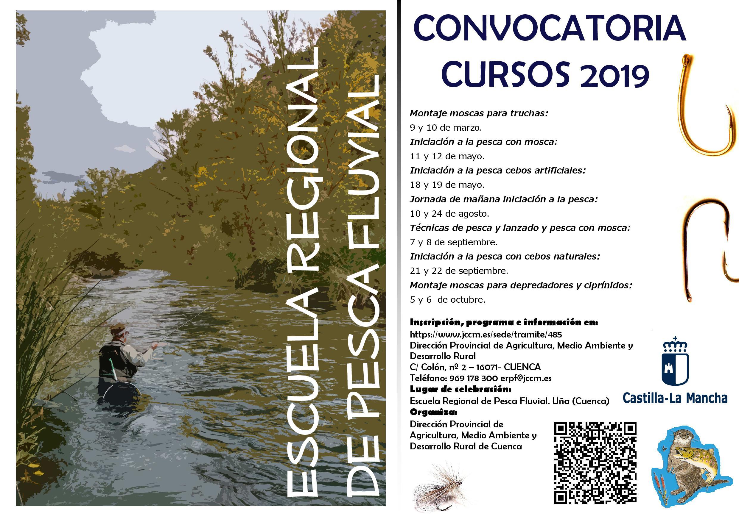 CARTEL CURSOS ESCUELA REGIONAL PESCA FLUVIAL 2019
