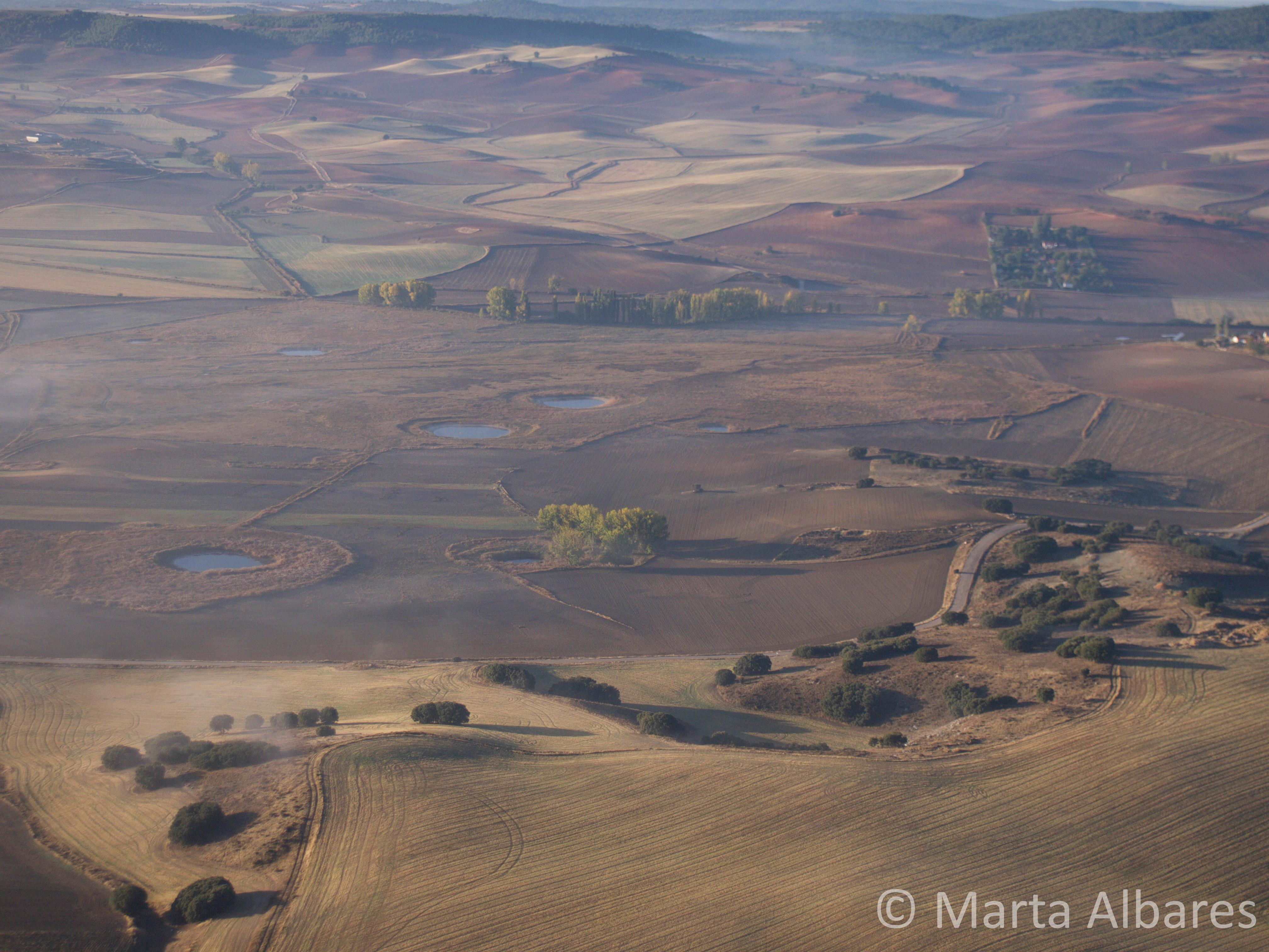 Lagunas de los Cedazos vistas desde el aire