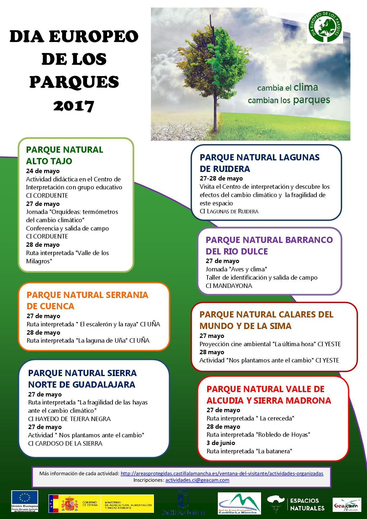 Cartel DIA EUROPEO DE LOS PARQUES