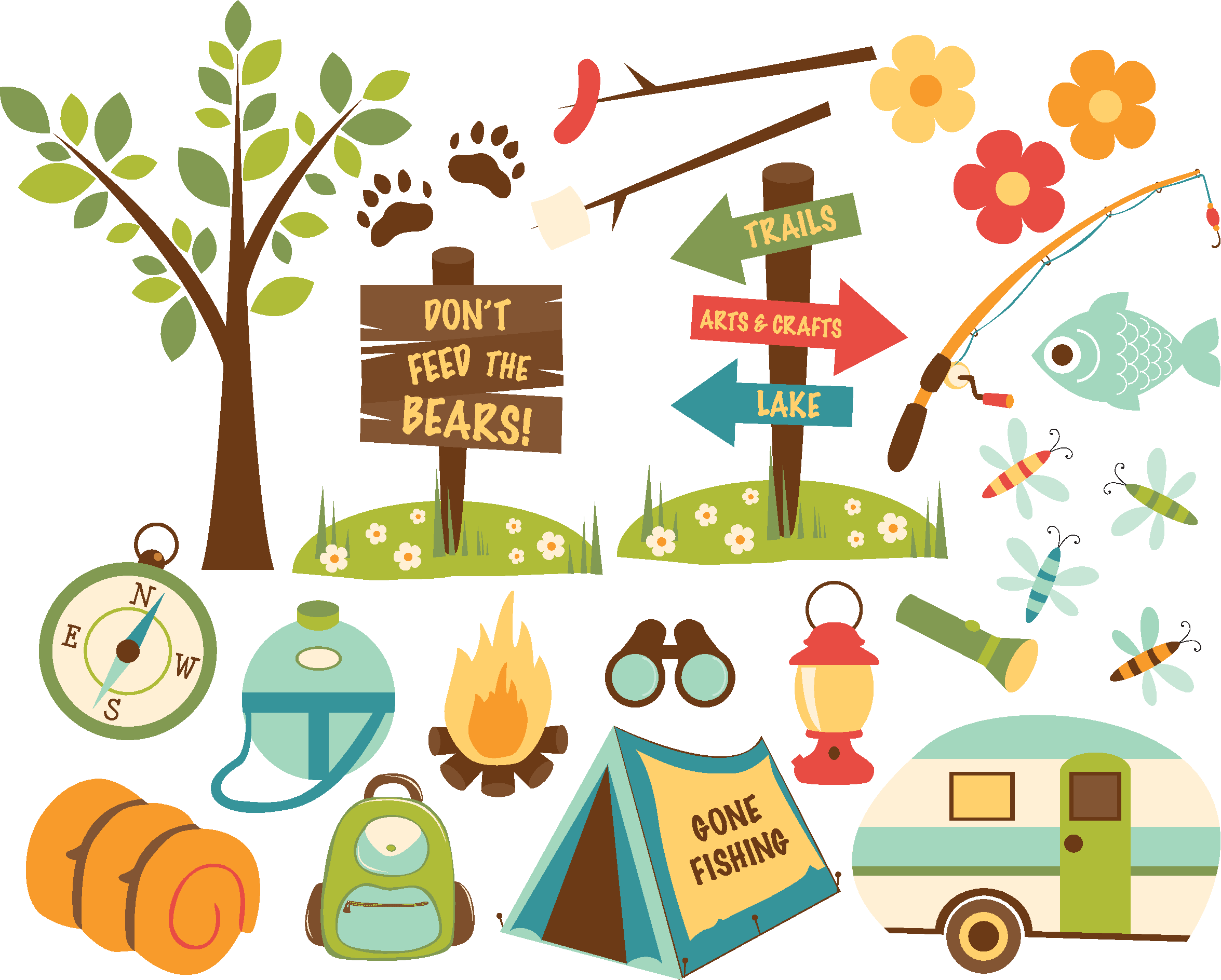 Lamina motivos acampada