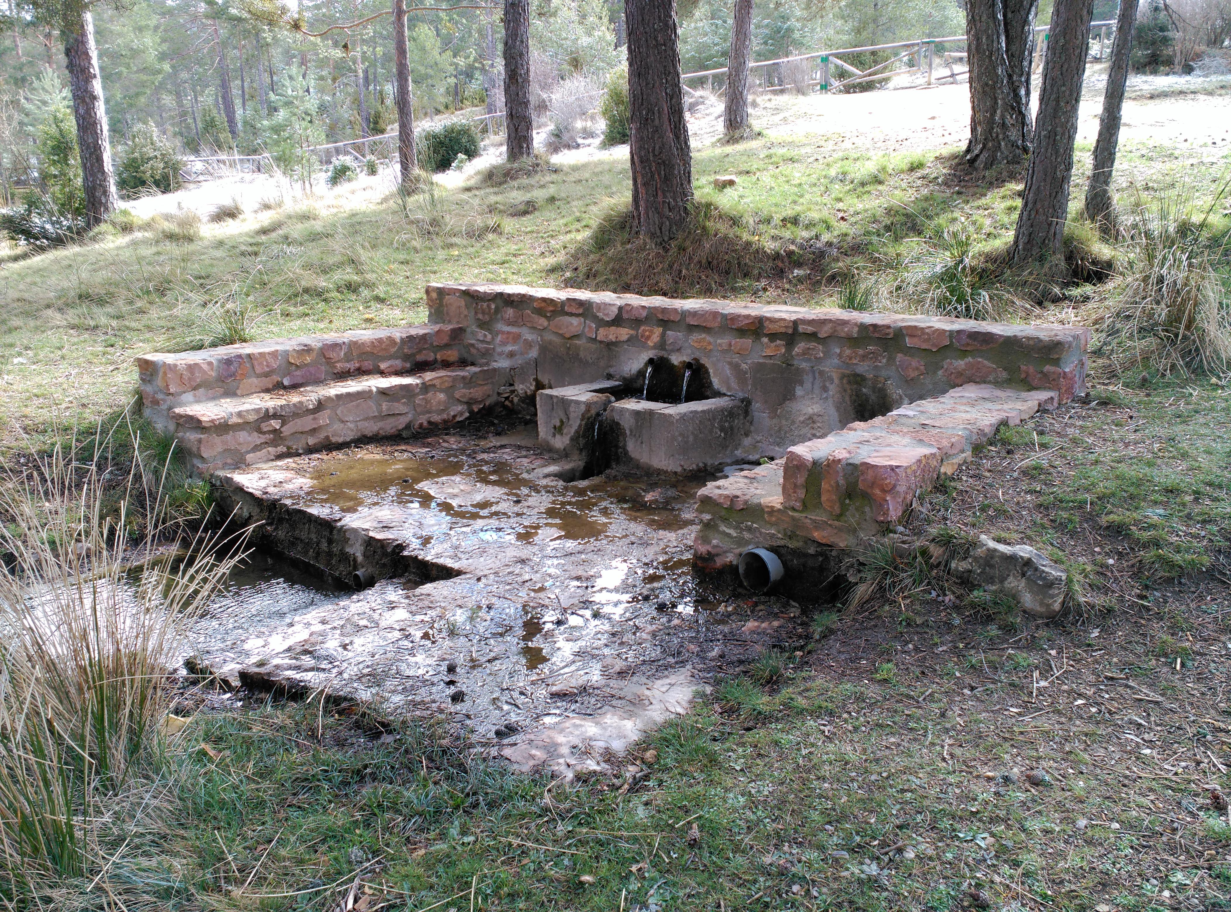 Area recreativa de la Fuente de las Tablas. Fuente