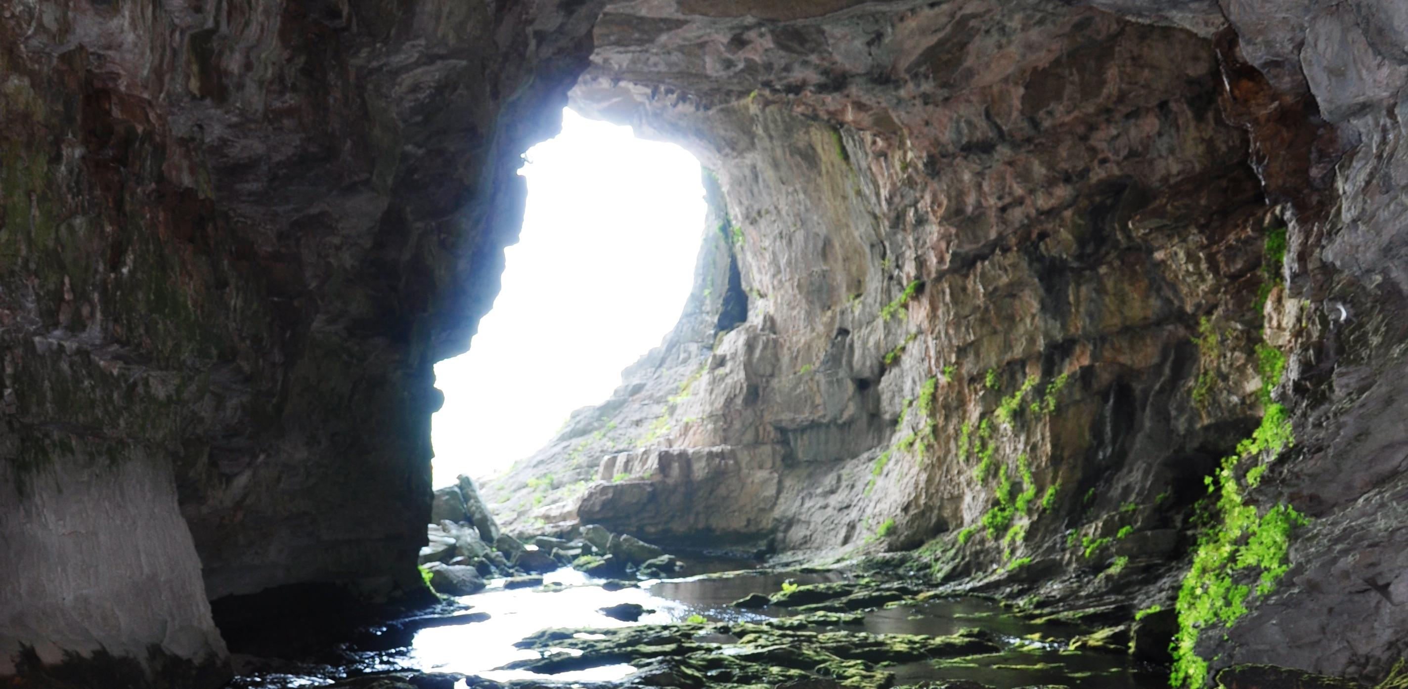 Salida de la Cueva de los Chorros