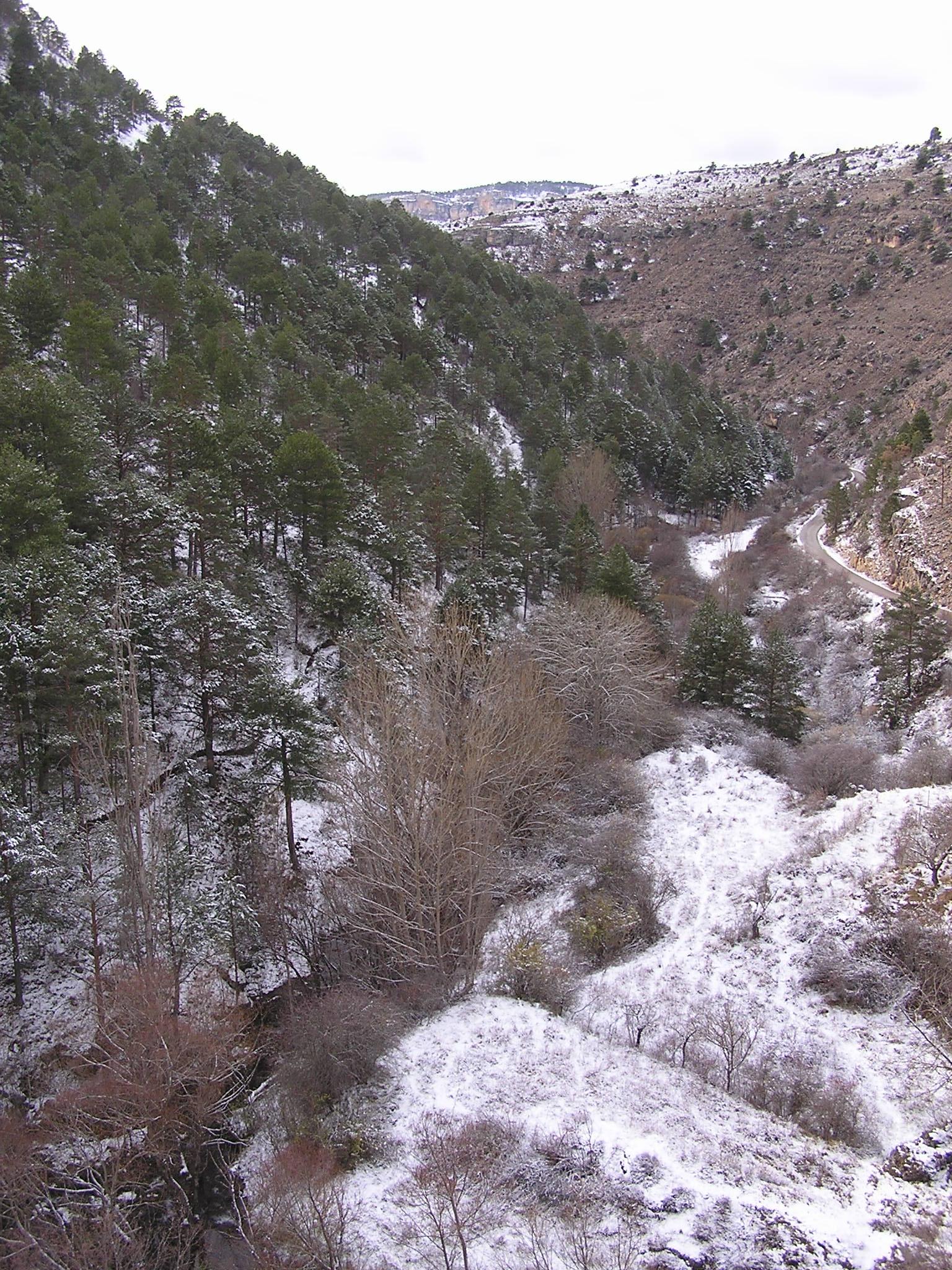 Valle del Júcar nevado