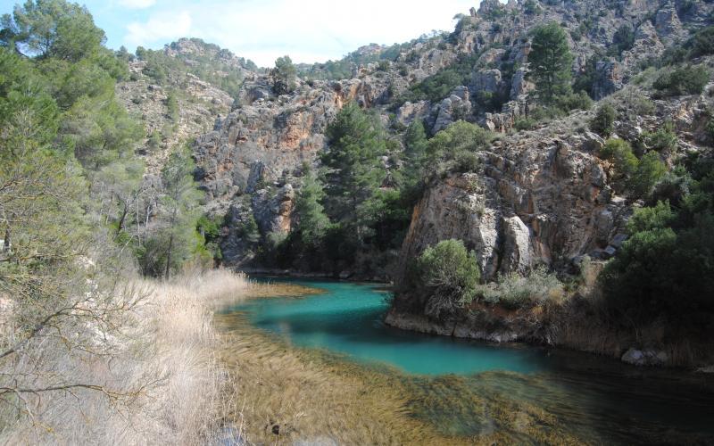El río Cabriel en los Cuchillos de Contreras
