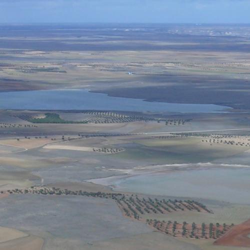 Panorámica aérea del complejo lagunar