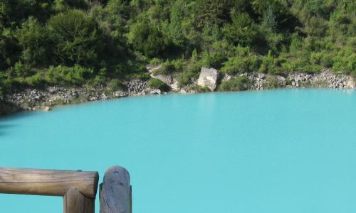 Laguna del Tejo fenómeno de blanqueo