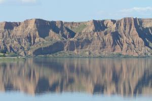 Panorámica de las Barrancas de Burujón desde la presa de Castrejón