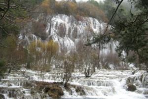 Cascada desbordada en el río Cuervo