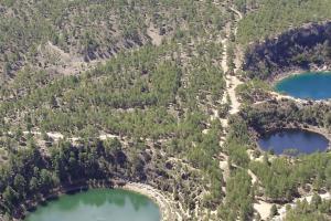 Lagunas Cañada Hoyo Helicoptero