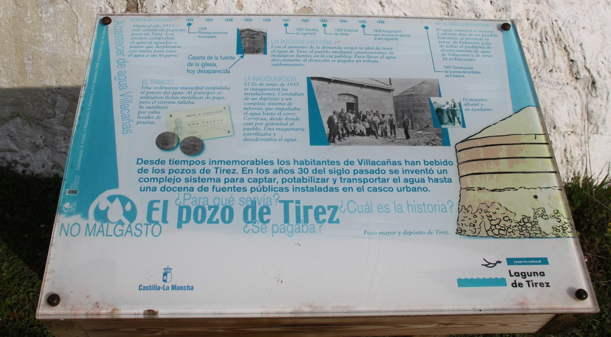 Cartel interpretativo Los Pozos de Tirez